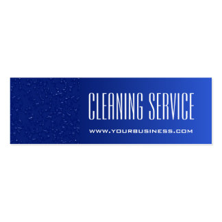 Cleaning Service - Water Drops Pack Of Skinny Business Cards