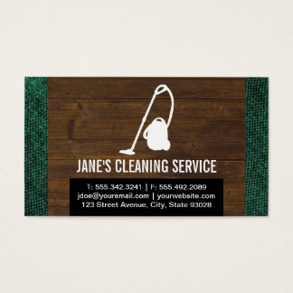Cleaning Service (Wood & Fabric) Business Card