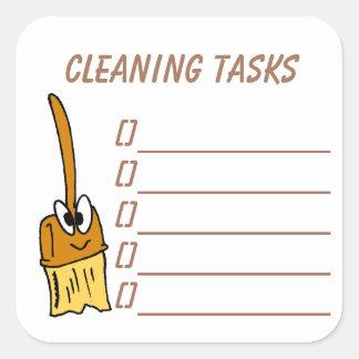 Cleaning Tasks Planner Sticker