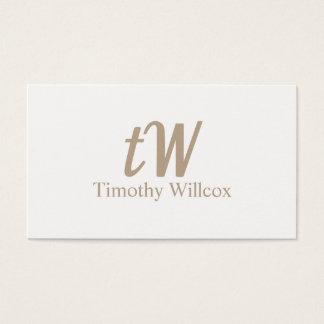 Clear and minimalist elegant card