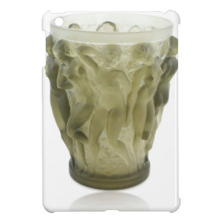 Clear Art Deco glass vase with female dancers. iPad Mini Case