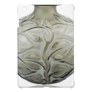 Clear Art Deco glass vase with flower design. Case For The iPad Mini