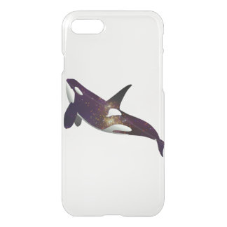 Clear beautiful galaxy stars space orca whale cool iPhone 7 case