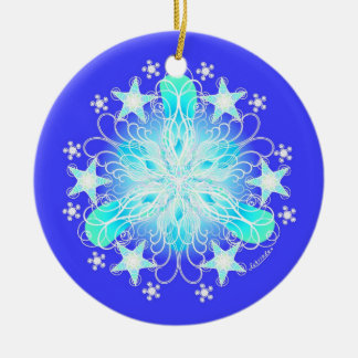 Clear & Bless the Air Ceramic Ornament