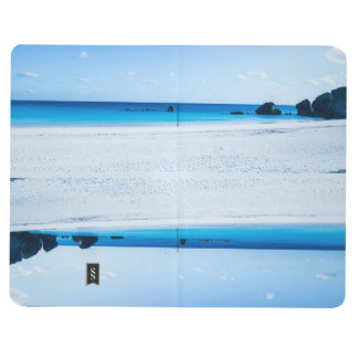 Clear Blue Beach Lined Notebook