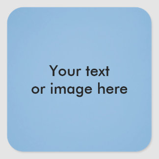 Clear blue sky photo template square sticker
