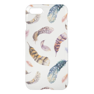 Clear Bohemian Watercolor Feather iPhone 8/7 Case