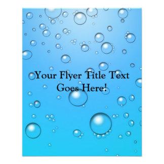 Clear Bubbles, Blue Water Flyer