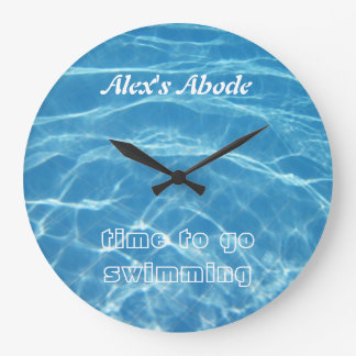 Clear Cool Blue Aquatic Pool Water Swimming Wall Clock