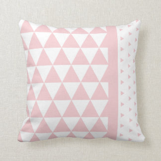 Clear cushion Pink Triangles