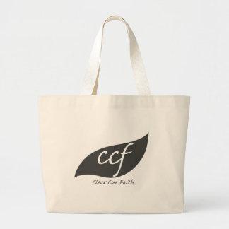 Clear Cut Faith Logo Large Tote Bag