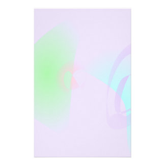 Clear-Cut Outlines Light Purple Abstract Art Personalized Stationery