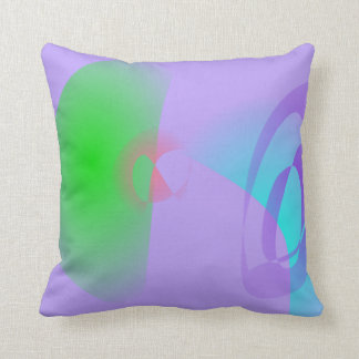 Clear-Cut Outlines Light Purple Abstract Art Pillows