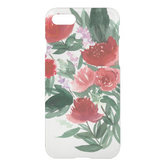 CLEAR! Floral watercolor phone case
