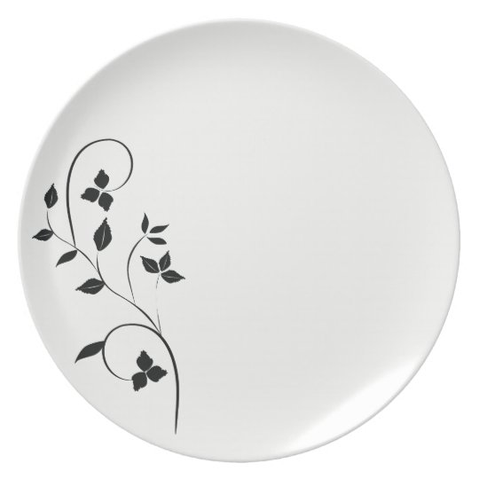 Clear Floral White by SGD Design Plate