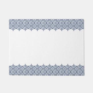 Clear geometric pattern blue doormat B of the line