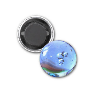 Clear Glass Marble Effects Magnet