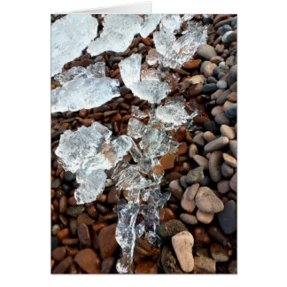 Clear Ice on Pebble Beach Greeting Card