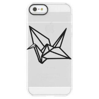 Clear iPhone Case Origami Crane
