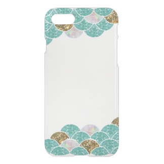 Clear Mermaid scales iPhone case
