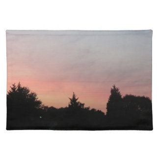 clear night sky place mat