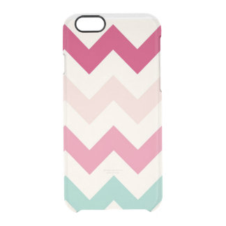 Clear pastel chevron zigzag zig zag pattern chic clear iPhone 6/6S case