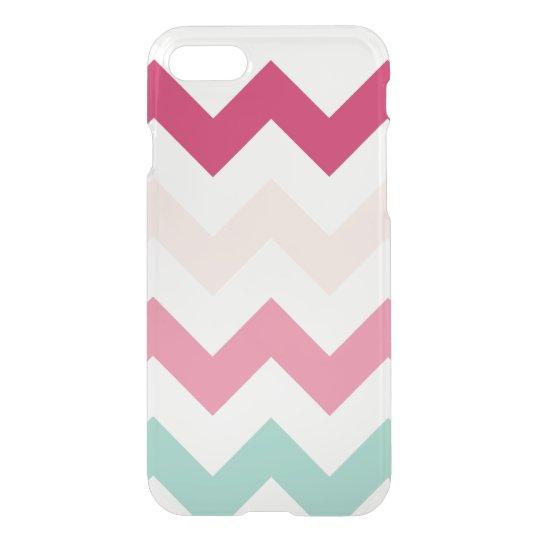 Clear pastel chevron zigzag zig zag pattern chic iPhone 8/7 case