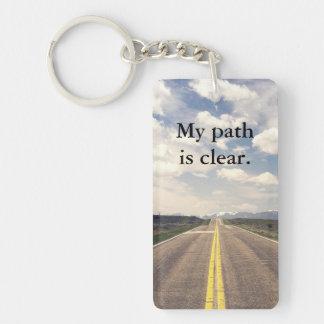 Clear Path Keychain