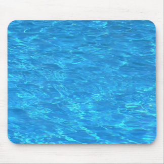 Clear pool water surface mouse pad