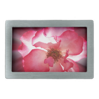 clear red petals belt buckle