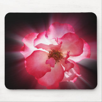 clear red petals mouse pad