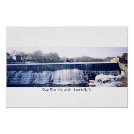 Clear River Waterfall - Harrisville, RI Posters