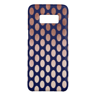 clear rose gold navy blue polka dots pattern Case-Mate samsung galaxy s8 case