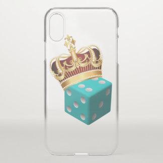 Clear Royal Dice IPhonex case