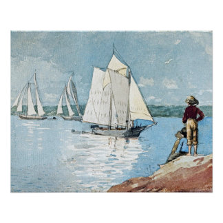 Clear Sailing by Winslow Homer Poster