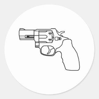 Clear Snub Revolver Sticker