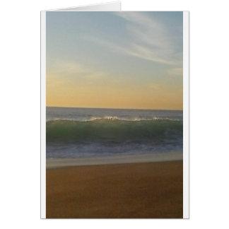 clear summer wave card