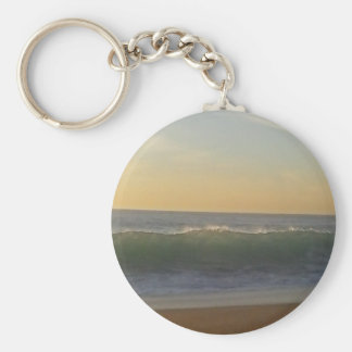 clear summer wave keychain