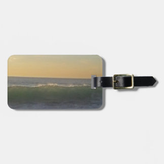clear summer wave luggage tag
