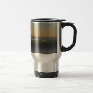 clear summer wave travel mug