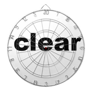 Clear Text Dartboard