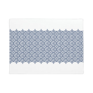 Clear the geometric pattern blue of the line doormat