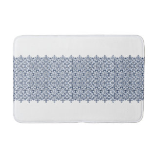 Clear the geometric pattern bus mat blue of the
