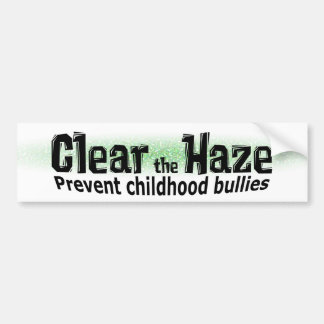 Clear the Haze Bumper Sticker