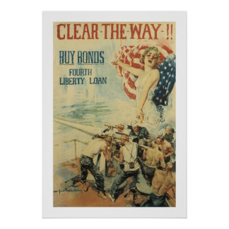 Clear the Way!! - Fourth Liberty Loan Poster