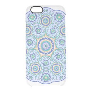 Clear transparent turquoise Mandala pattern symbol Clear iPhone 6/6S Case