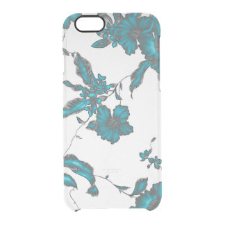 Clear tropical flower ice colour clear iPhone 6/6S case