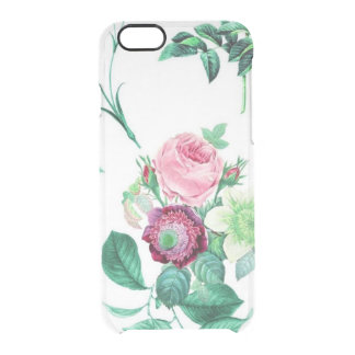 Clear vintage floral flowers rose wildflower clear iPhone 6/6S case