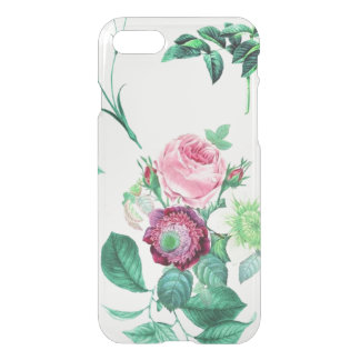 Clear vintage floral flowers rose wildflower iPhone 7 case