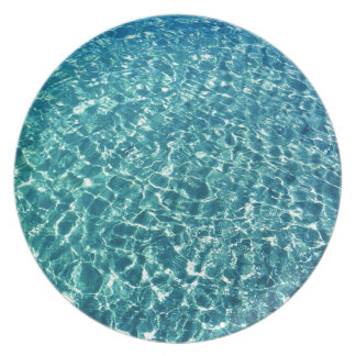 Clear Water Blue Plate